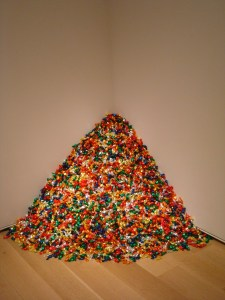 Untitled - 175 pounds of candy art