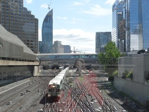 The railways of Toronto - the city has nicely built over them to bring the city together