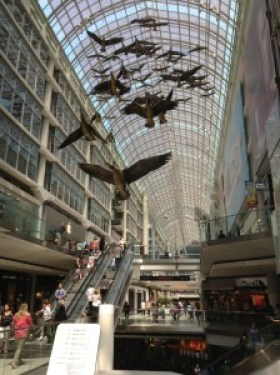Canadian Geese art installation - Eaton Centre Mall Toronto