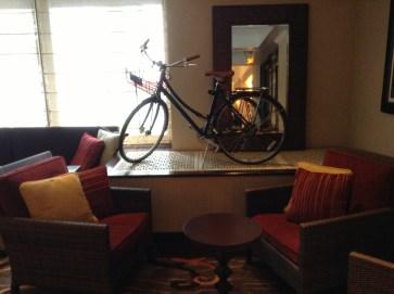 Kimpton Bicycle in lobby