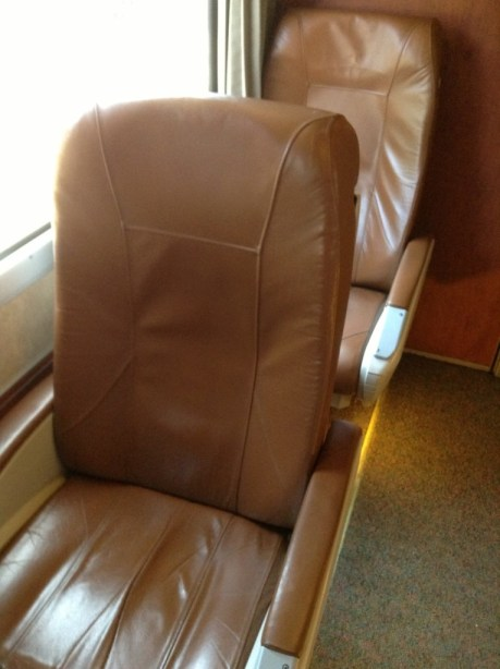 Business class Amtrak Cascades train