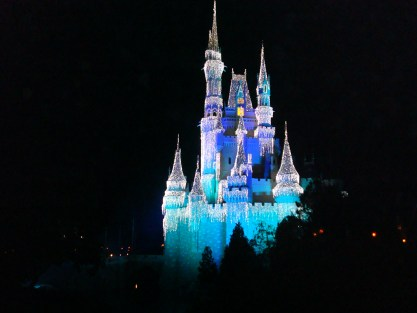 Cinderella's Castle at Walt Disney World Christmas
