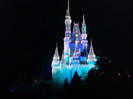 Cinderella's Castle at Walt Disney World Christmas