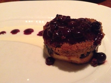Blueberry Crumble dessert Wolfgang Puck