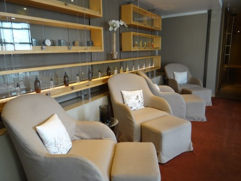 Spa waiting area - have a seat and relax
