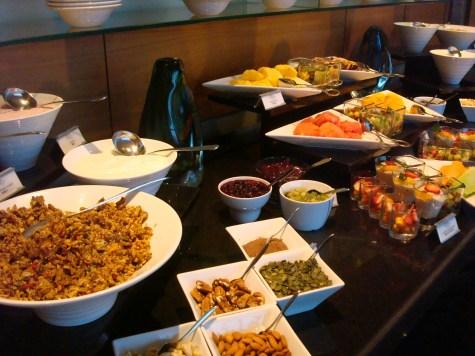 Club breakfast buffet at Westin Capetown