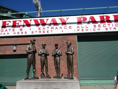 Teammates statue at Fenway in Boston