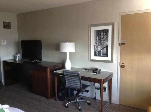 Westin Copley room desk and tv