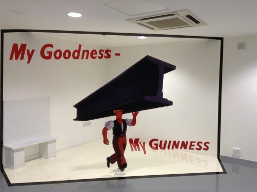 You too can be in the Guinness Ad! Sit on the bench on the left and seemlessly appear in the ad