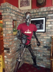 Terminator like like size display made of motorcycle parts in Ireland
