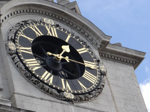 The clock at St. Paul's Cathedral in London