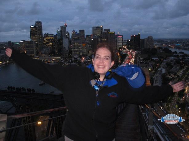 Twilight Bridge Climb view of Sydney skyline