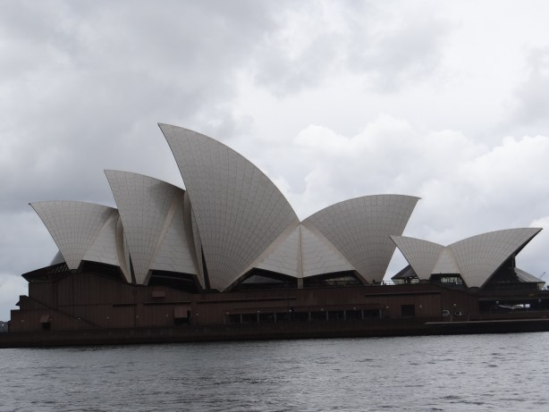 Sydney Opera House in the clouds