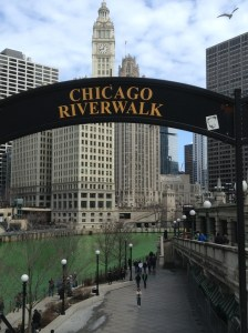 Chicago Green River on the Riverwalk