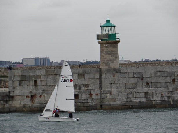 Dublin lighthouse and boat
