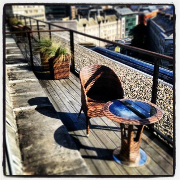 Westin Dublin rooftop balcony