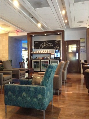 British Airways lounge PHL seating