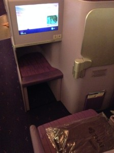 Thai A380 business class seat