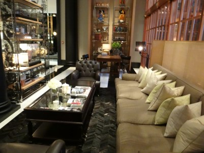 Rosewood London lobby seating