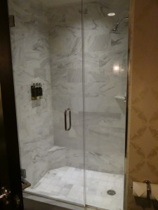 The Nines Hotel shower