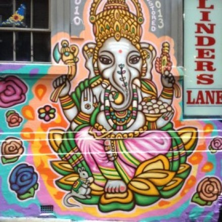 Shree Ganesh by Deb Melbourne Street Artist