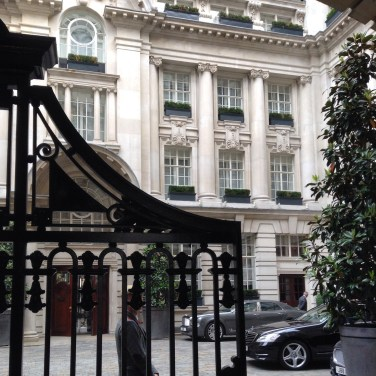 Rosewood London courtyard