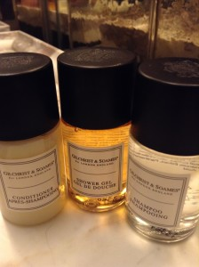 Rosewood London toiletries Gilchrist Soames