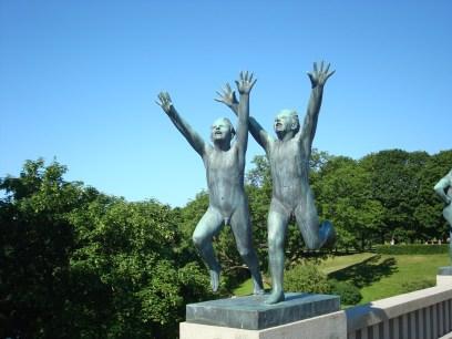 Vigeland Sculpture Park boys running