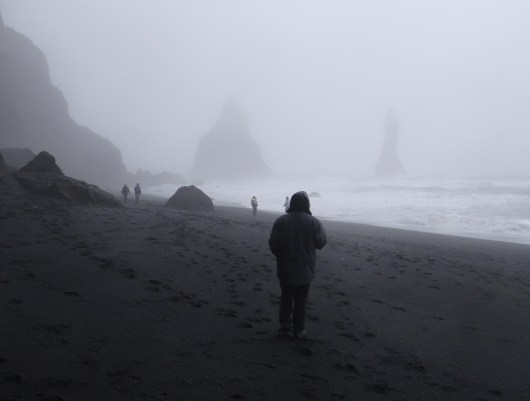 Photos of Iceland Sea Stacks Fog Black Sand Beach Iceland Reynisfjara