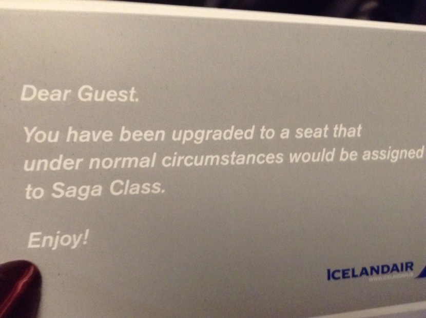 Icelandair Saga upgrade