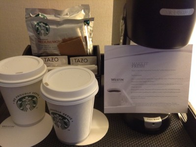 Westin New York  Grand Central in room coffee maker