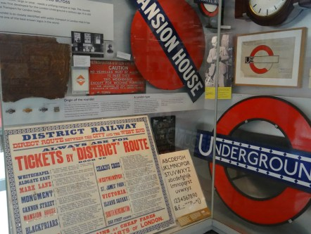London Underground displays at Transport Museum
