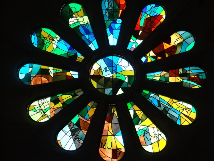 La Sagrada Familia stained glass windows