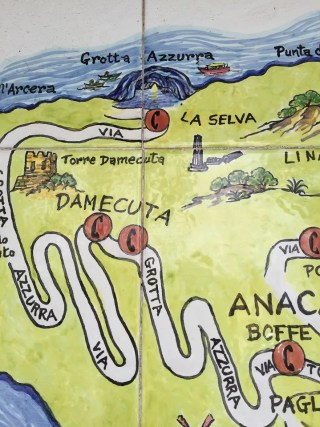 Map Anacapri to Blue Grotto