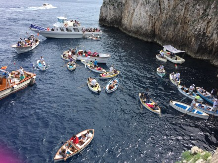 Blue Grotto Traffic Boats