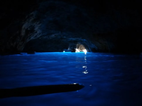 Blue Grotto view inside out