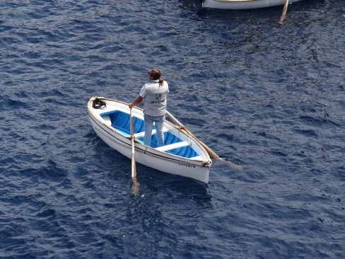 Blue Grotto Rowboat