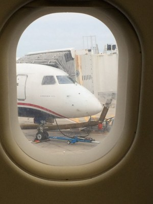 USAirways plane nose