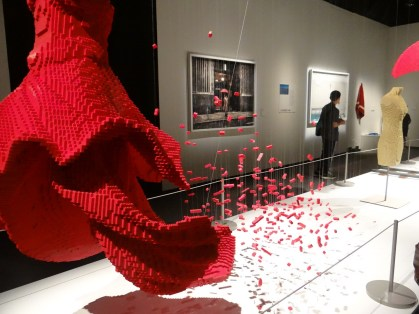Collaboration of Lego art with photos by Dean West - the red dress was my favorite