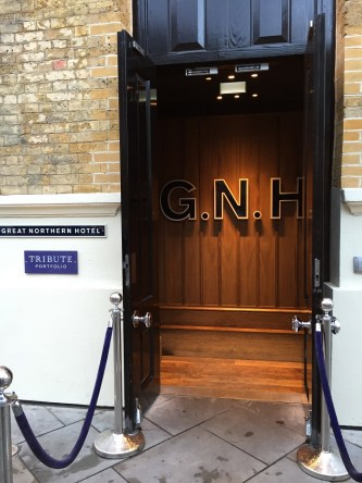 Entrance to the Great Northern Hotel London