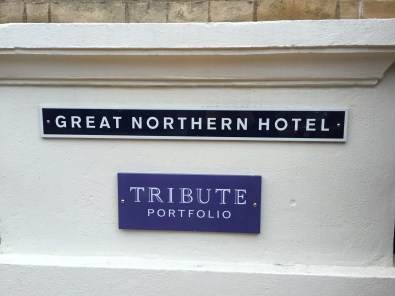 Great Northern Hotel London sign