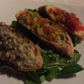 Bruschetta appetizer Kempinski Gozo