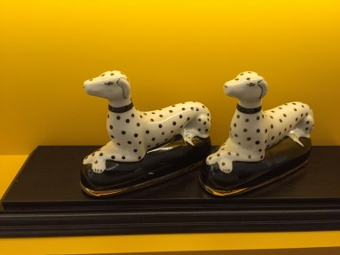 Dalmation decor in the renovated king room Sheraton Park Lane Hotel London