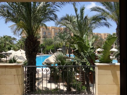 Kempinski Gozo balcony view of pool