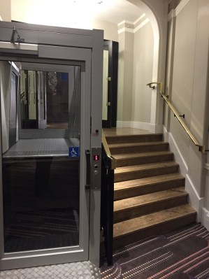 Sheraton Park Lane Hotel London lobby stairs lift