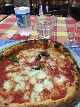 Italian pizza in Milan Navigli