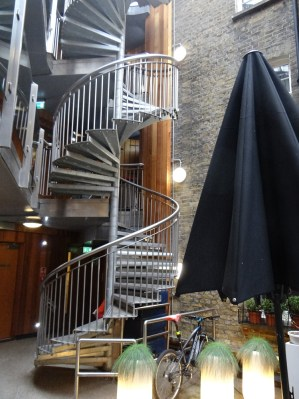 Courtyard stairs at Z Hotel Soho in London for less