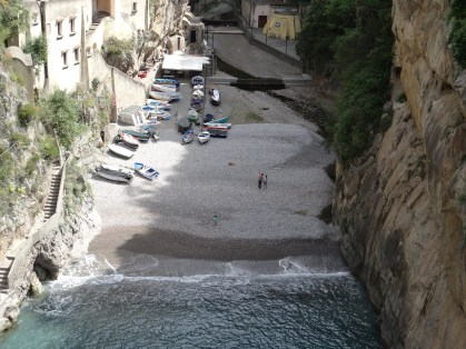 Amalfi Coast rock beach