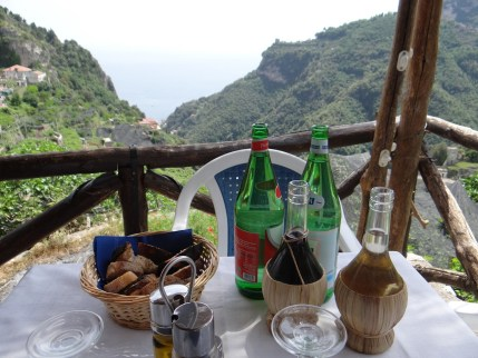 Amalfi Coast lunch view