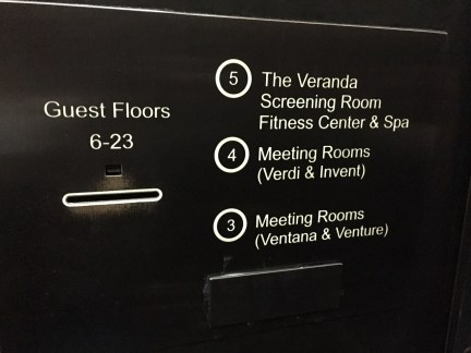 The Eventi Hotel NYC elevator
